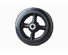 RUBBER MOLD-ON / CAST IRON WHEELS